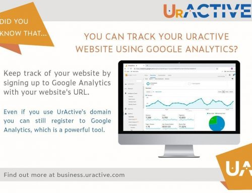 Did you know that you can track your UrActive website using Google Analytics?