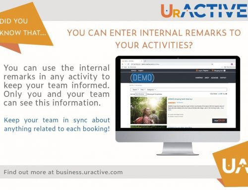 Did you know that you can enter internal remarks to your activities?
