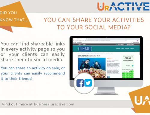 Did you know that you can share your activities to your social media?